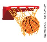 isolated basketball net with a... | Shutterstock .eps vector #581669839