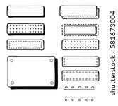 hand drawn bullet journal... | Shutterstock .eps vector #581673004