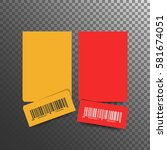 ticket template.  isolated on a ... | Shutterstock .eps vector #581674051