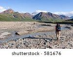 backpacking in denali | Shutterstock . vector #581676