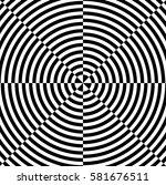 op art  also known as optical... | Shutterstock .eps vector #581676511