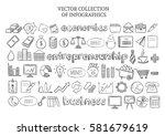 infographic economics elements... | Shutterstock .eps vector #581679619