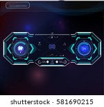 set of futuristic blue... | Shutterstock .eps vector #581690215
