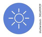 flat icon. the sun.