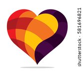 colorful heart icon | Shutterstock .eps vector #581696821
