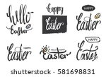 a collection of logos and... | Shutterstock .eps vector #581698831
