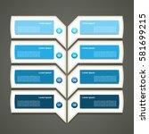 modern  infographics options... | Shutterstock .eps vector #581699215