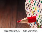 pack of color pencils with a... | Shutterstock . vector #581704501