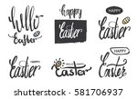 a collection of logos and... | Shutterstock . vector #581706937