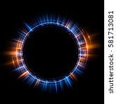 abstract neon background.... | Shutterstock . vector #581713081