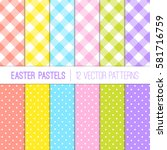 Easter Colors Pixel Gingham...