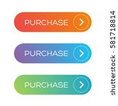 purchase web button set | Shutterstock .eps vector #581718814