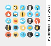 vector illustration. flat icon... | Shutterstock .eps vector #581719114