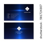 template abstract business card ... | Shutterstock .eps vector #581724307