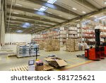 logistic  storage  shipment ... | Shutterstock . vector #581725621