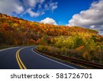 cherohala skyway appalachian... | Shutterstock . vector #581726701