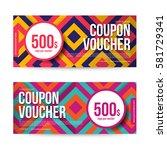 gift voucher  abstract... | Shutterstock .eps vector #581729341