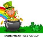 st patrick or saint patrick s... | Shutterstock .eps vector #581731969