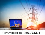 production planning of power... | Shutterstock . vector #581732275