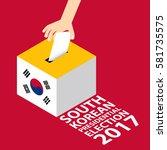 south korean presidential...   Shutterstock .eps vector #581735575