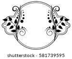 round black and white frame... | Shutterstock . vector #581739595