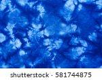 pattern of blue tie batik dye...   Shutterstock . vector #581744875