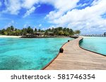 maldives islands | Shutterstock . vector #581746354
