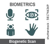 biometric scanning graphic  ... | Shutterstock .eps vector #581746369