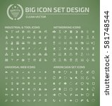 big icon set clean vector | Shutterstock .eps vector #581748544