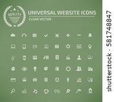 website icon set clean vector
