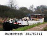 Houseboat Moored In The Canal