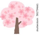 cherry blossoms   Shutterstock .eps vector #581754661