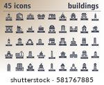 building icons set. | Shutterstock .eps vector #581767885