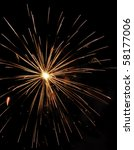reddish orange burst of... | Shutterstock . vector #58177006