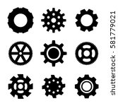 simple gear or cog wheel vector ... | Shutterstock .eps vector #581779021