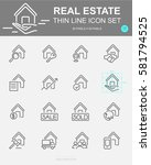 set of real estate vector line... | Shutterstock .eps vector #581794525