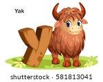 wooden textured bold font... | Shutterstock .eps vector #581813041