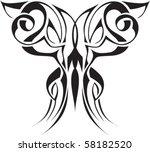 tattoo design butterfly | Shutterstock .eps vector #58182520