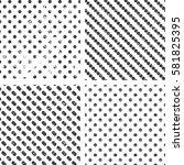 set of 4 grunge monochrome...   Shutterstock .eps vector #581825395