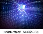 disco ball background. disco...   Shutterstock .eps vector #581828611