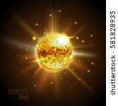 disco ball. disco background | Shutterstock .eps vector #581828935