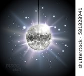 disco ball. disco background | Shutterstock .eps vector #581828941