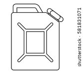 jerrycan icon. outline... | Shutterstock .eps vector #581831071