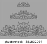 set of vector lace seamless... | Shutterstock .eps vector #581832034