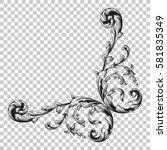 isolate vintage baroque...   Shutterstock .eps vector #581835349