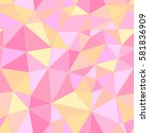 gold and pink polygon... | Shutterstock .eps vector #581836909