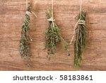 Fresh Dried Herb Bundles Of...
