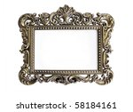 an ornate antique picture frame ... | Shutterstock . vector #58184161