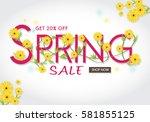 spring sale banner spring...