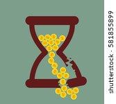 Time Is Money. Broken Hourglas...
